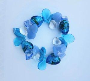 Braccialetto sottile azzurro-blu