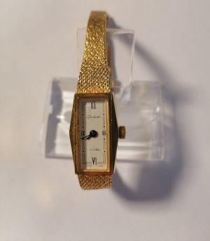 Glashütte Montre avec bracelet métallique doré
