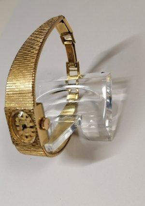 Glashütte Orologio con cinturino di metallo oro