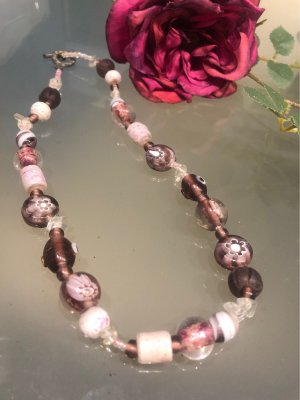 Bijou Brigitte Collana di perle multicolore