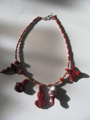 Naszyjnik z perłami Wielokolorowy Szkło