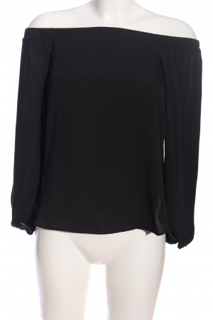 Glassons Carmen-Bluse schwarz Casual-Look