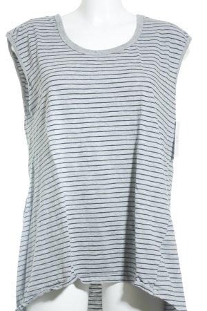 Glassons Longshirt hellgrau-dunkelblau Streifenmuster Casual-Look