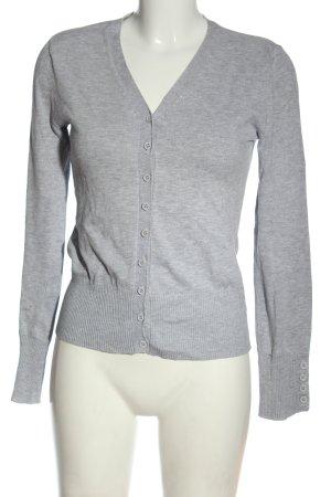 Glassons Knitted Cardigan light grey flecked elegant