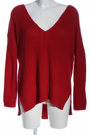 Glassons V-Neck Sweater red casual look