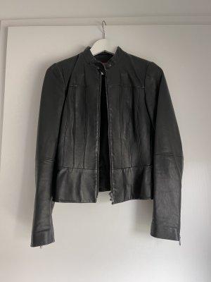 HUGO Hugo Boss Veste en cuir noir