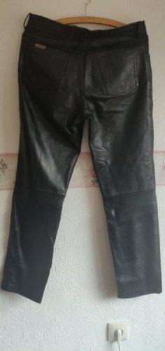 Linus Pantalon en cuir noir