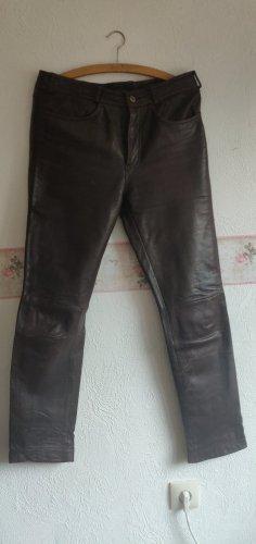 Linus Pantalon en cuir brun