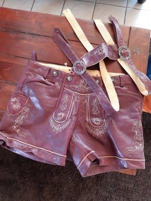 Laura T: Tradycyjne skórzane spodnie w kolorze różowego złota