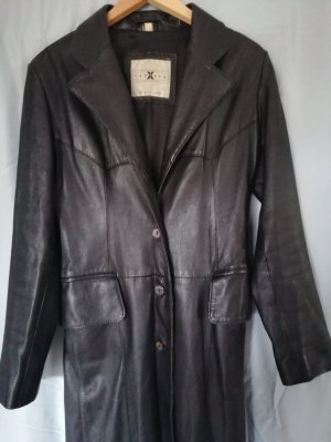 100 Leather Coat black