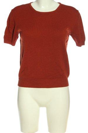GLENFIELD Maglione a maniche corte rosso stile casual