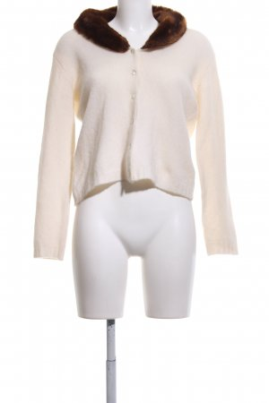 GLENFIELD Strick Cardigan creme-braun Casual-Look