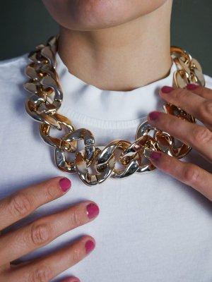 Kauf Dich Glücklich Curb Chain gold-colored-rose-gold-coloured mixture fibre