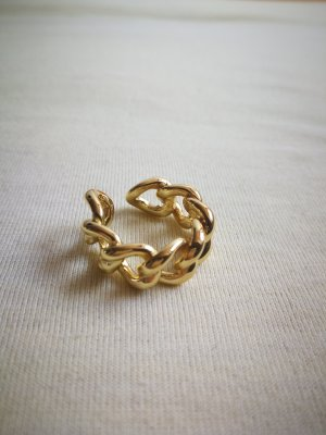Gliederring in gold Sterling S925