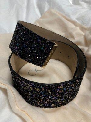 Jimmy Choo Cinturón pélvico negro-azul oscuro