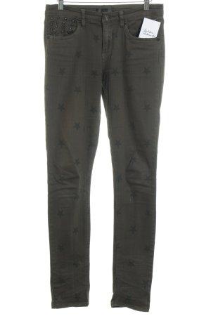 Glitz & Glam Slim Jeans grüngrau-dunkelgrün Casual-Look