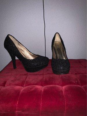 Glitzer black heels