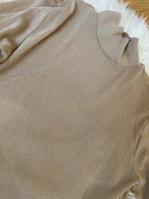 Haut col roulé beige-chameau