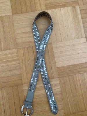 Hallhuber Cinturón de cadera color plata-gris
