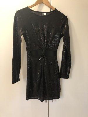 H&M Divided Sequin Dress black