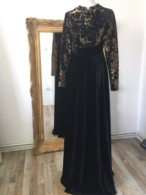 Butik Evening Dress black-gold-colored
