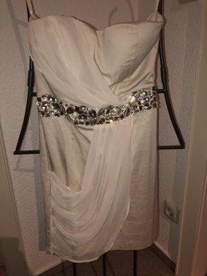 AX Paris Robe épaules nues blanc cassé-crème