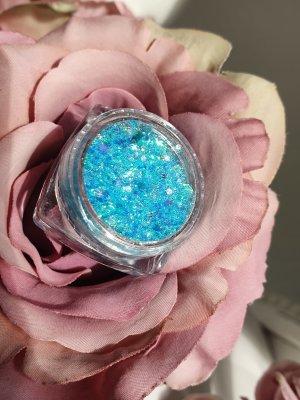 glitzer make up blau türkis festival makeup up outfit