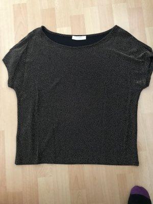 Promod Cowl-Neck Shirt black-gold-colored