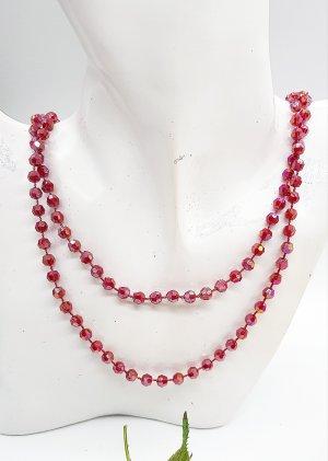 Glitzer Perlenkette in rot, unendlich