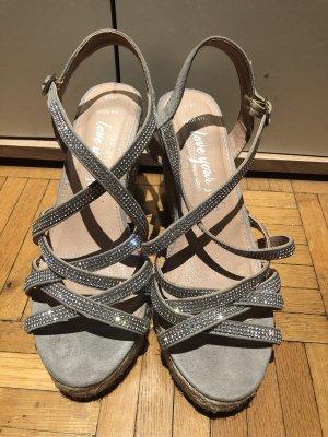 Platform Sandals beige