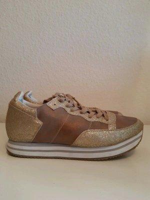 Glitzer Plateau Sneaker