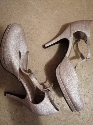 Tamaris Strapped pumps silver-colored