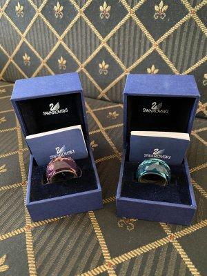 Swarovski Statement Ring blue violet-turquoise