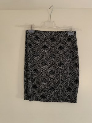 H&M Spódnica ze stretchu czarny-srebrny