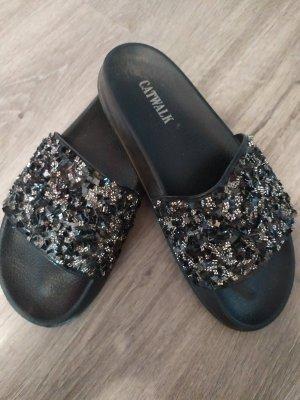 Catwalk Outdoor sandalen zwart-zilver