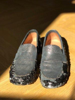Glitzer-Schuhe Mokassins mit Pailletten