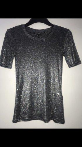 Topshop Boothalsshirt zilver
