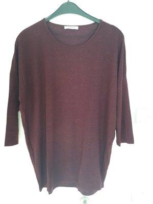 Glitzer Shirt mit 3/4 tel Fledermausarm