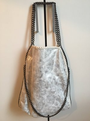 Shopper light grey-silver-colored