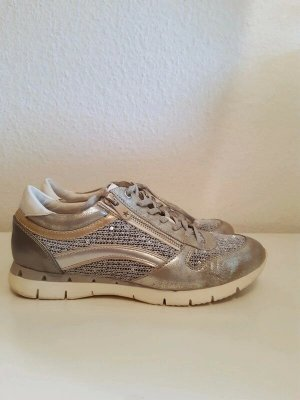 Marco Tozzi Lace-Up Sneaker silver-colored-gold-colored mixture fibre