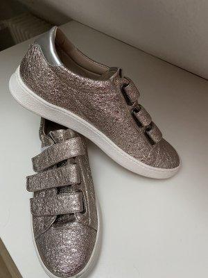 Donna Carolina Hook-and-loop fastener Sneakers dusky pink leather