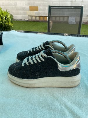 Glitzer Sneaker Plateau Gr. 39