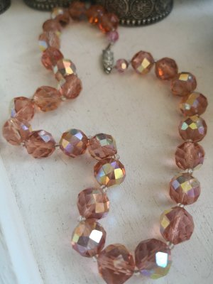 Collar estilo collier rosa-rosa