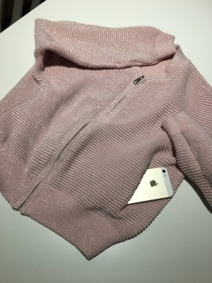 Giacca bomber argento-color oro rosa