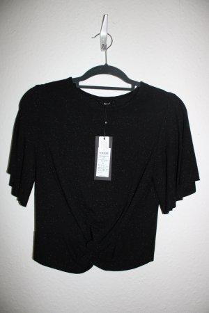 Only T-shirt czarny-srebrny