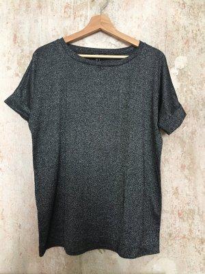 Glitzer T-Shirt | Silber | Mango | S/M