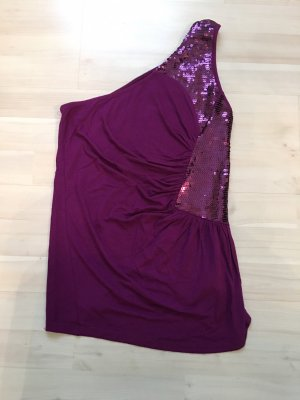 Amisu Haut avec une épaule dénudée violet