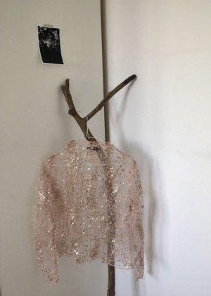 Nasty Gal Camisa de malla nude-rosa