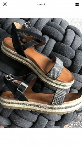 aus Spanien Wedge Sandals multicolored leather
