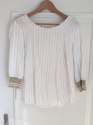 Cream Short Sleeved Blouse multicolored